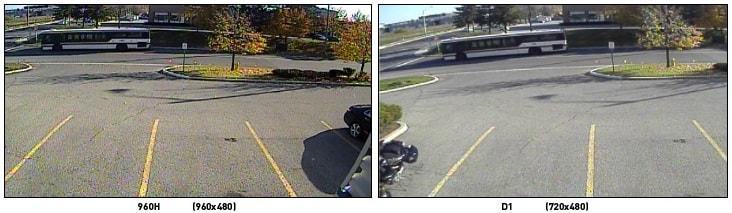 Porovnanie 960H a D1 rozlíšenia CCTV kamier