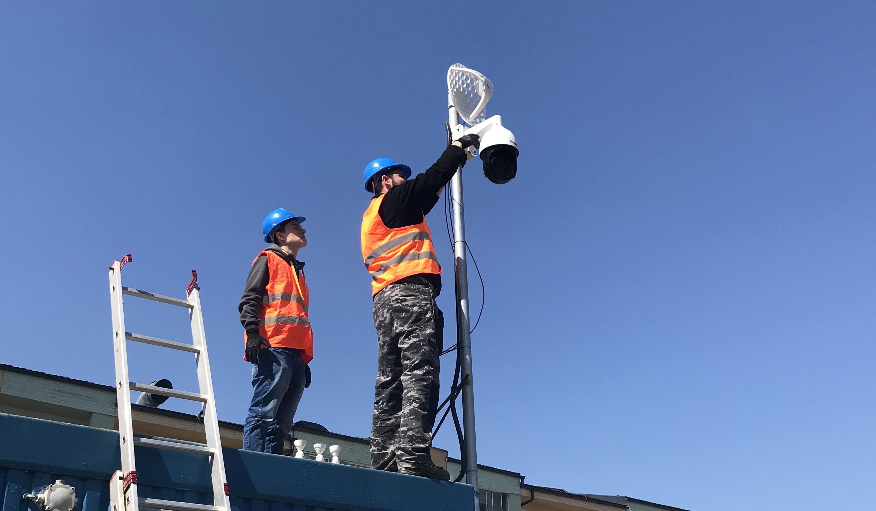 Kontrola staveniska pomocou kamerového systému! / Mobilná PTZ kamera pripojená pomocou LTE routra.